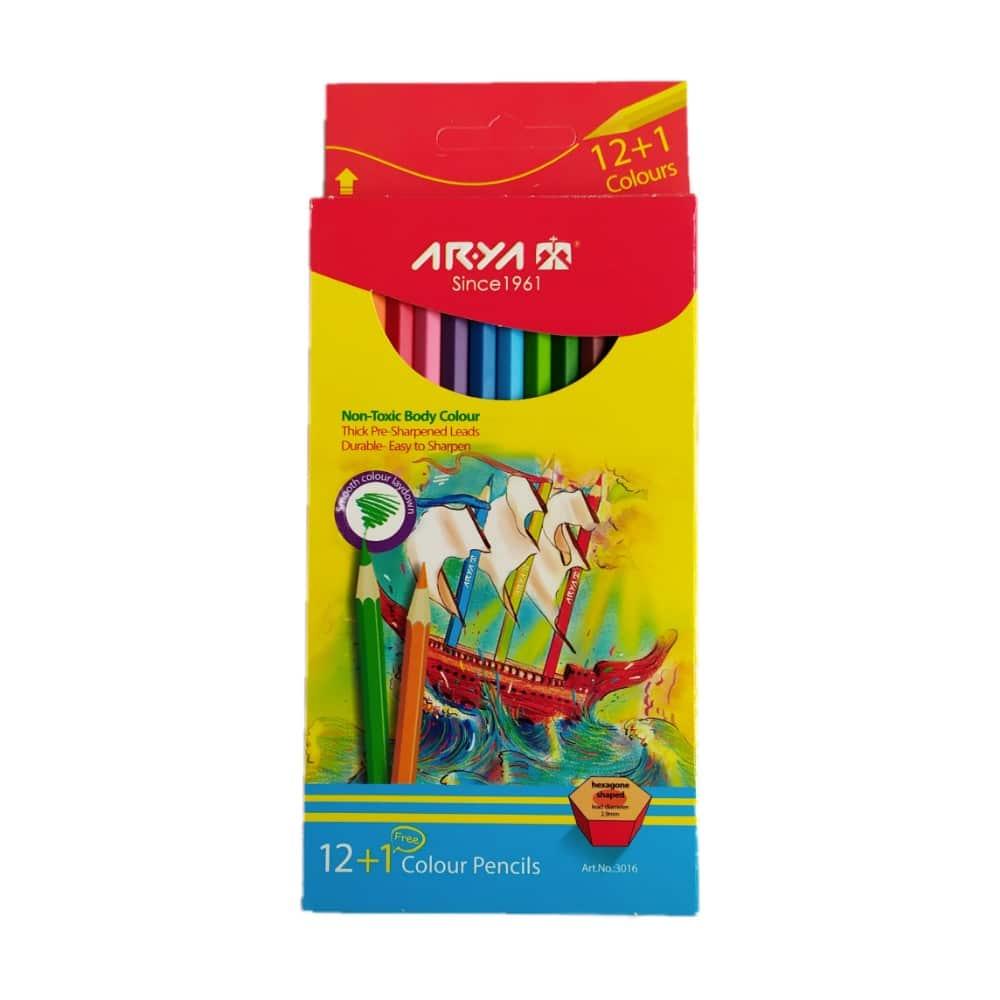 مداد رنگی آریا 12+1