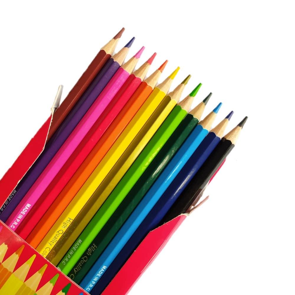 مداد رنگی وک 12 رنگ جعبه مقوایی