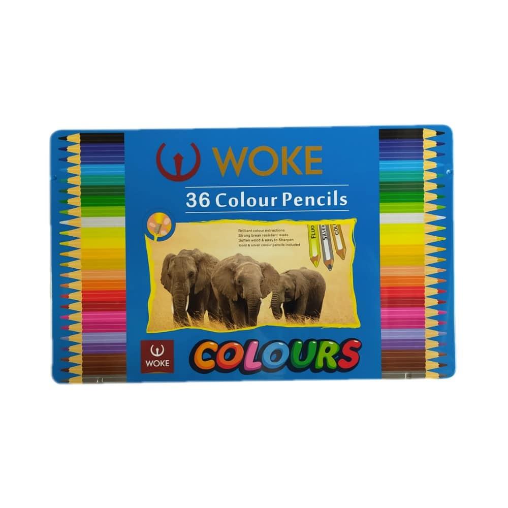 مداد رنگی ووک 36 رنگ