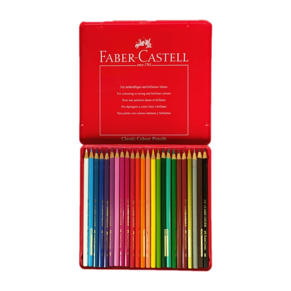 مداد رنگی فابر کاستل 24 رنگ