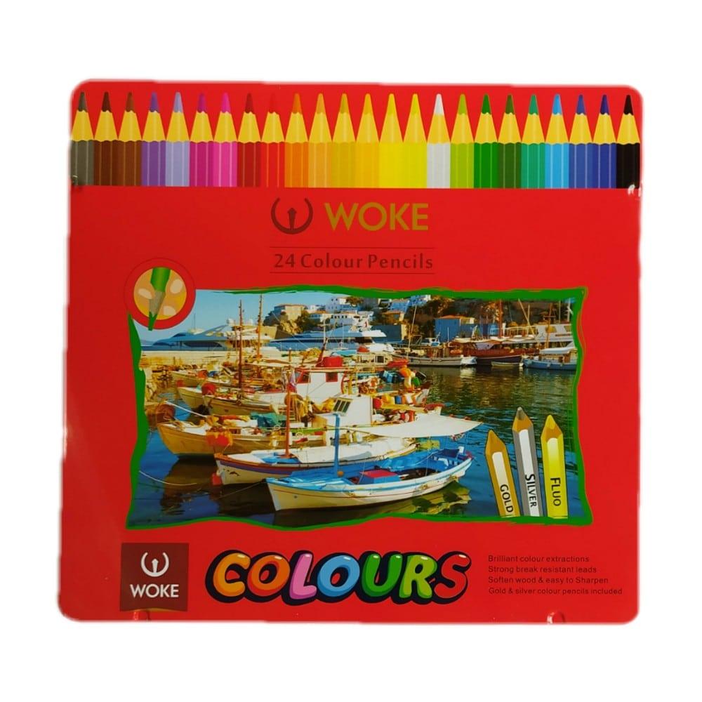 مداد رنگی ووک 24 رنگ