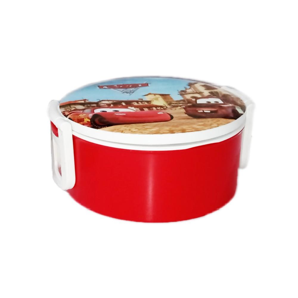 ظرف غذای دو طبقه پلاستیکی قرمز 1