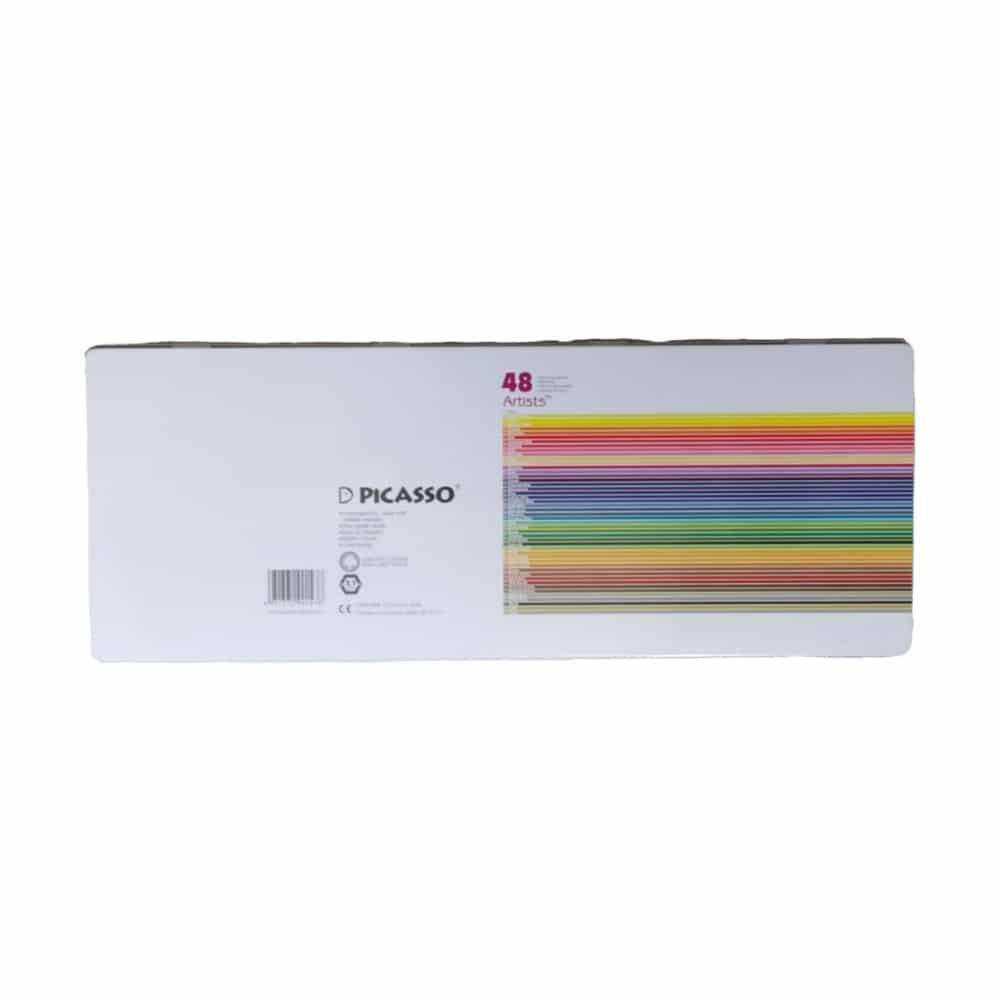 مداد رنگی 48 رنگ پیکاسو آرتیست پشت