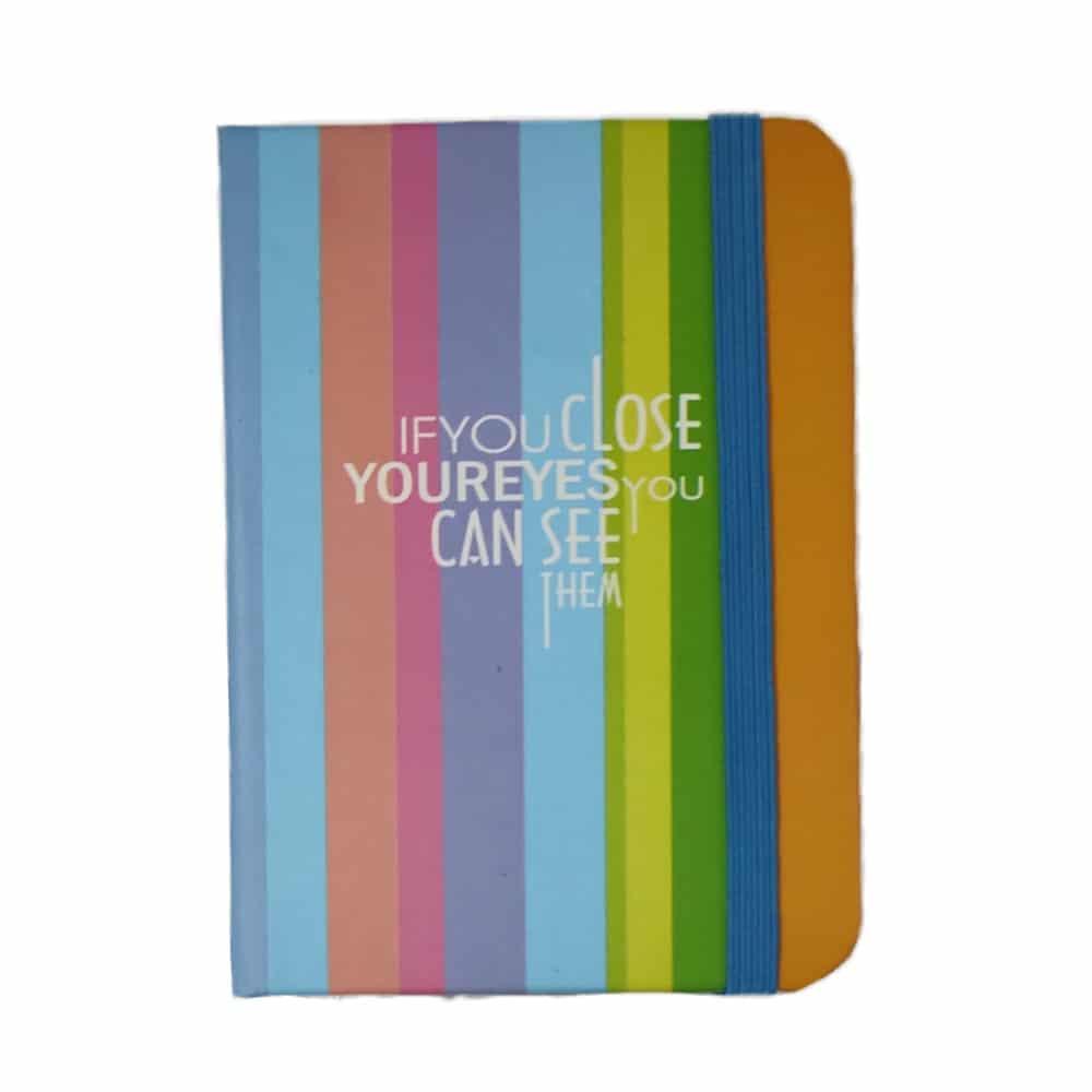 دفترچه یادداشت کش دار کوچک