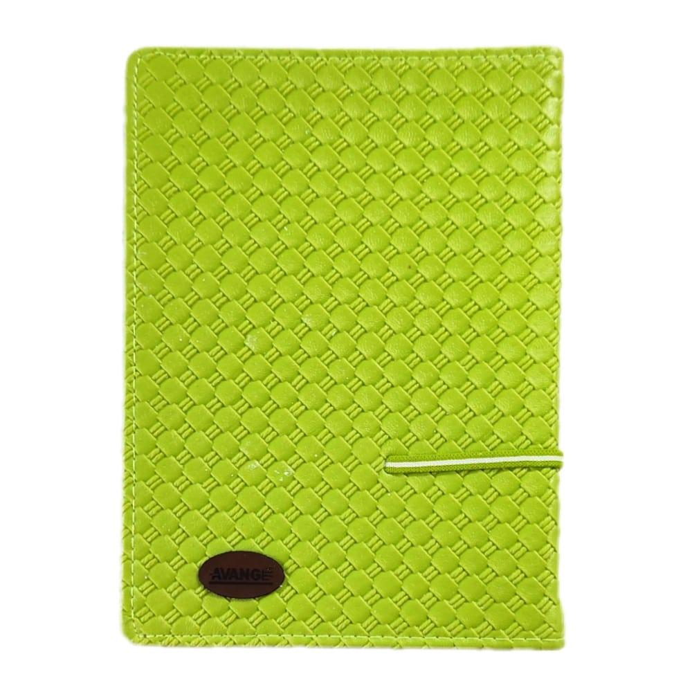 دفتر کلاسوری ۲۰۰ برگ جلد چرمی گیره فلزی آونگ سبز