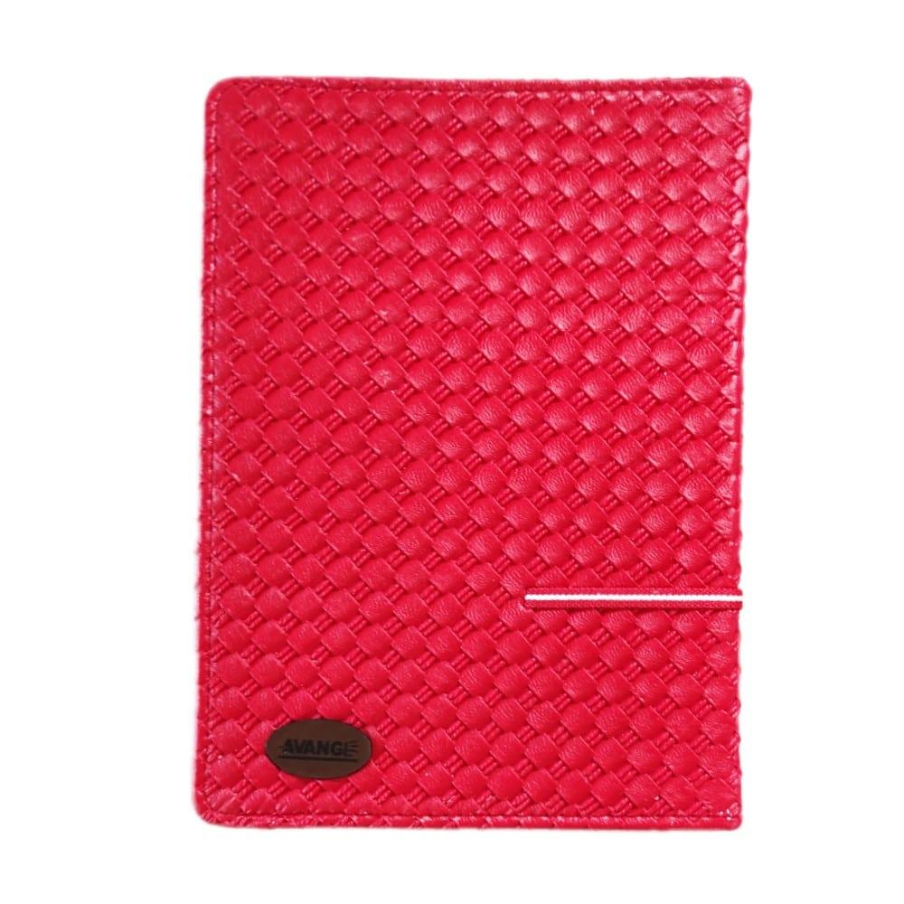 دفتر کلاسوری ۲۰۰ برگ جلد چرمی گیره فلزی آونگ قرمز