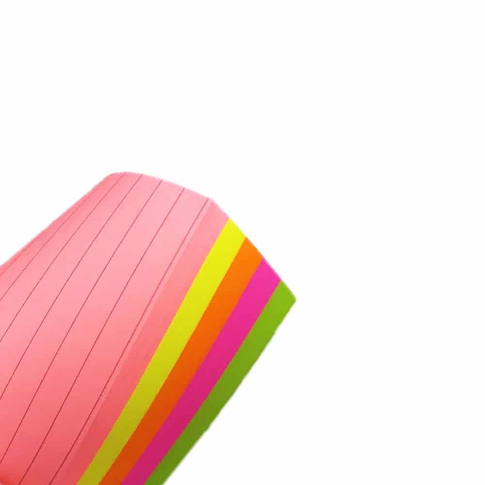 کاغذ یادداشت چسب دار سایز 145 در 100 میلی متر خط دار رنگ ها