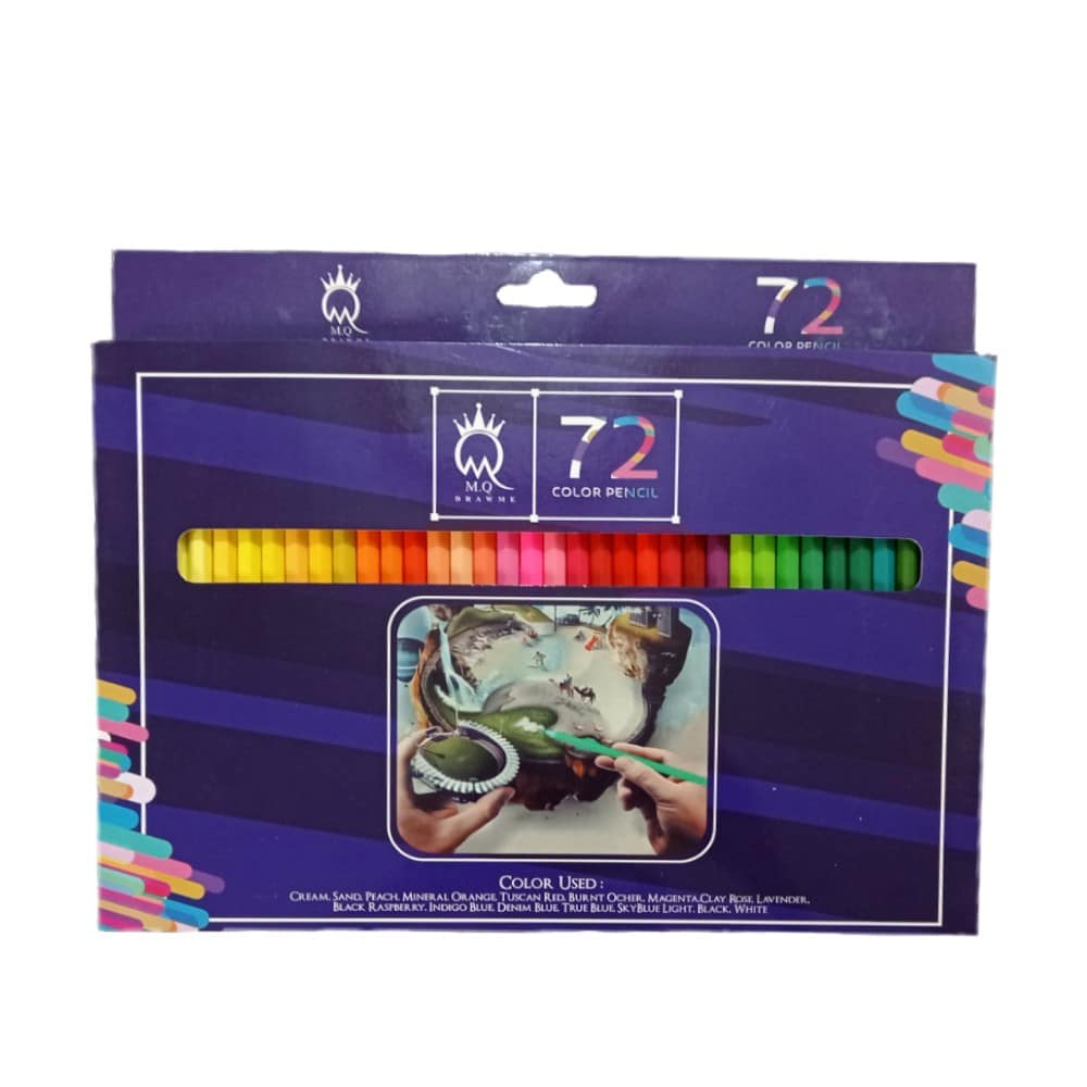 مداد رنگی 72 رنگ MQ