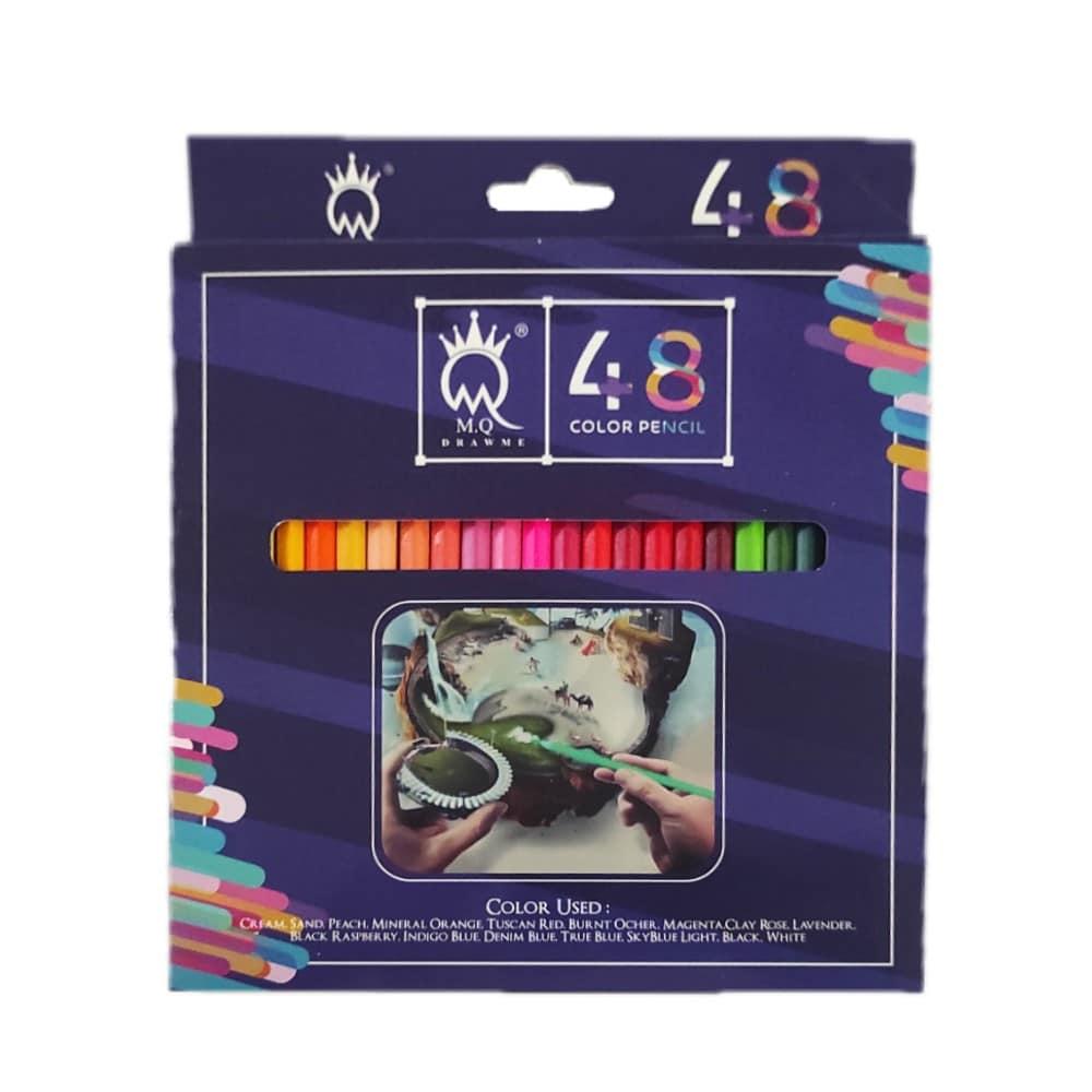 مداد رنگی 48 رنگ MQ جعبه مقوایی
